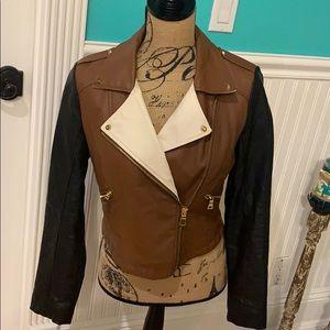 F21 Faux Leather Jacket Size M